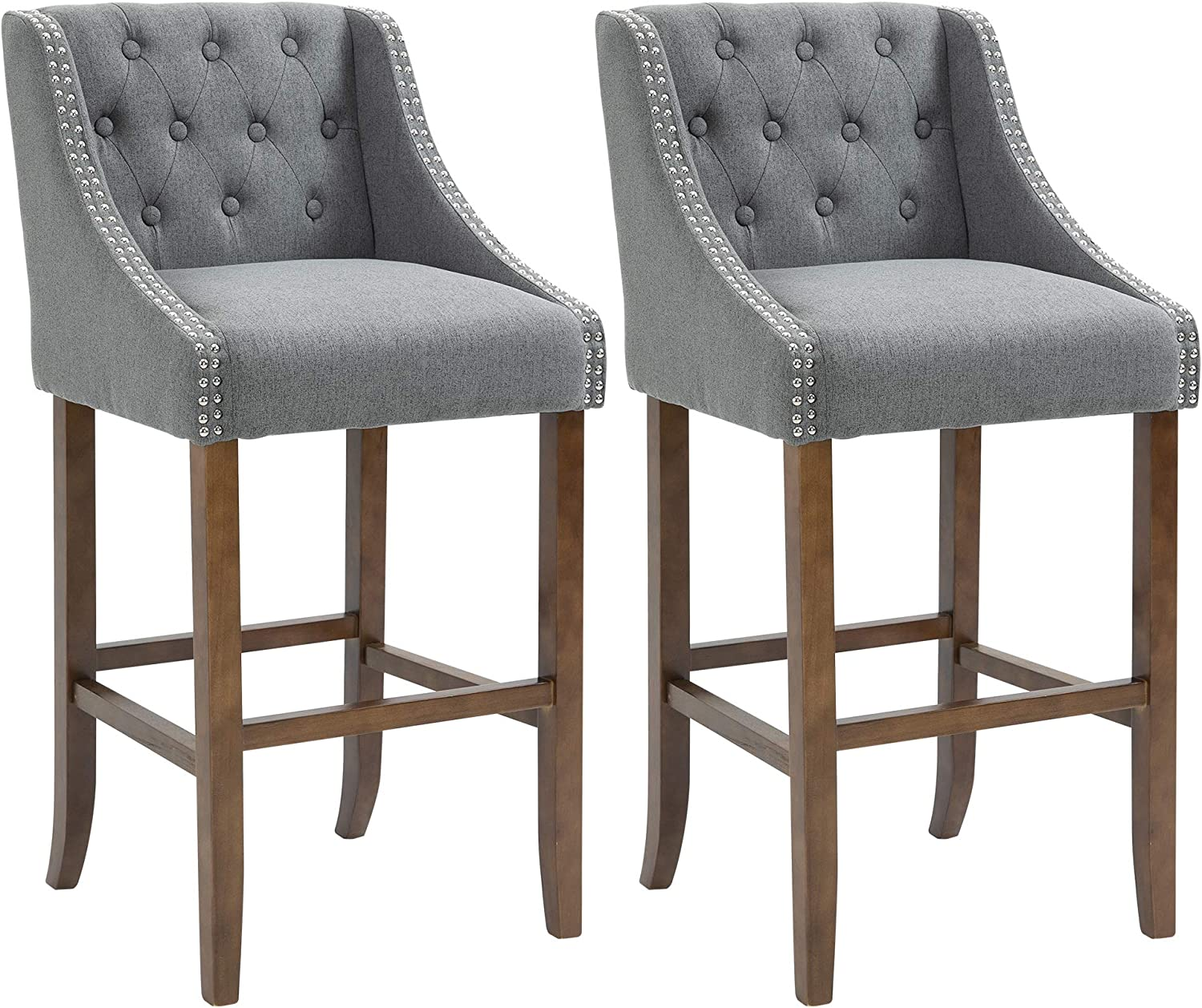 HOMCOM Indefinitely Modern Mid Back Bar Height Limited Special Price Chair for Kitche Dining Stools