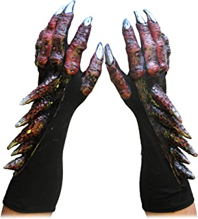 Red Dragon Claws Hands Adult Cosplay Costume Gloves