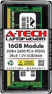 وحدة ترقية ذاكرة وصول عشوائي للكمبيوتر المحمول A-Tech 16GB DDR4 2400MHz SODIMM PC4-19200 2Rx8 Dual Rank 260-Pin CL17 1.2V ...