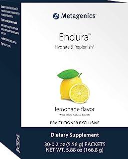 Metagenics - Endura, 30 Servings, Key Electrolytes- No Artificial Sweeteners or Colors, Zero Sugar - Lemonade Flavor