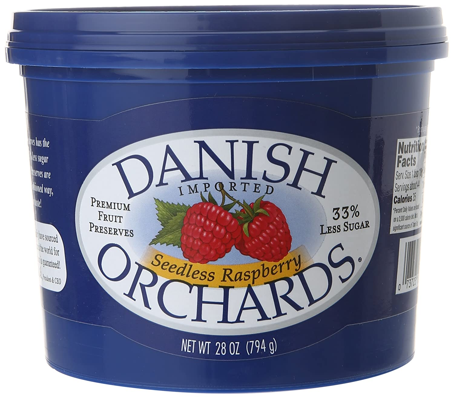 Danish Cheap mail order sales Limited price Orchards Seedless Preserves Raspberry of Pack 28 Ounce