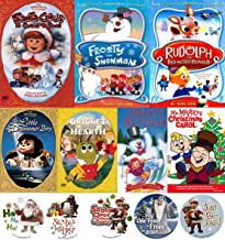 Timeless Christmas Original Holiday 7 Classics Frosty Snowman & Returns / Rudolph Red Nosed Reindeer / Cricket / Little Drummer Boy / Santa Claus Coming to Town Animated Collection Mr. Magoo's Carol