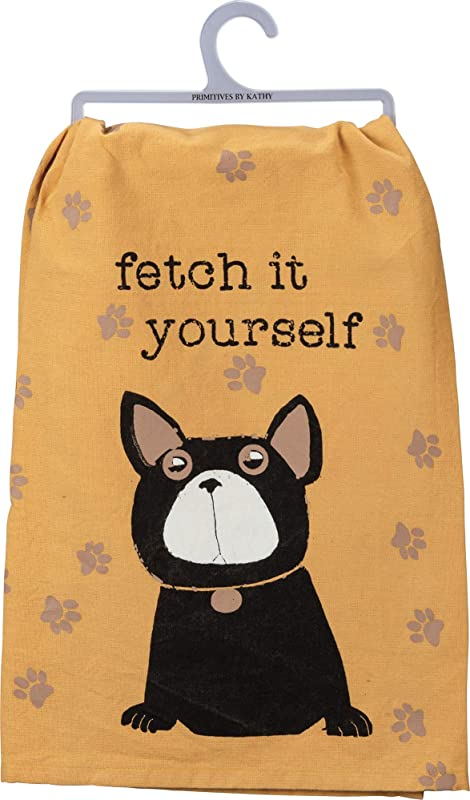 Primitives By Kathy Dish Towel Fetch It Yourself