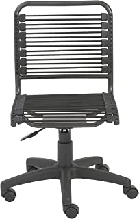 Euro Style Bungie Low Back Adjustable Office Chair, Black Bungies with Graphite Black Frame