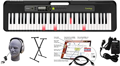 Casio LK-S250 61-Key Premium Lighted Keyboard Pack with Head