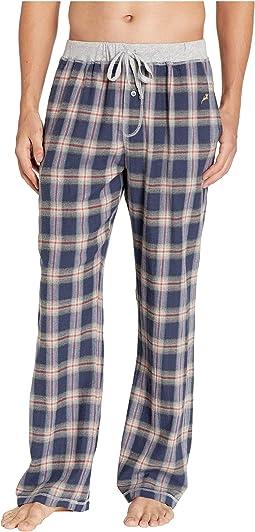 Dakota Plaid Flannel Pajama Pants with Heather Trim