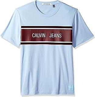 Calvin Klein Men's Short Sleeve Stripe T-Shirt Crew Neck