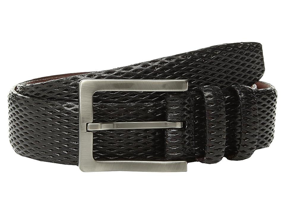 Torino Leather Co. 35mm Italian Layered Diamond Calf (Black) Men