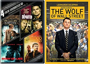 5 Film Favorites: Leonardo Dicaprio The Wolf of Wall Street /The Departed / Blood Diamond / Body of Lies / Great Gatsby Movie Bundle Collection
