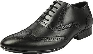Heels & Shoes Men Black Genuine Leather Brogue Lace Up Shoe