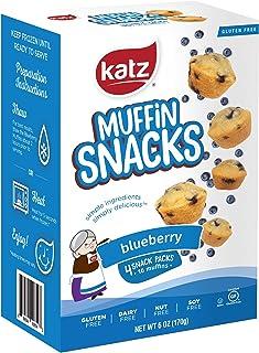 Katz Gluten Free Blueberry Muffin Snacks   Dairy Free, Nut Free, Soy Free, Gluten Free   Kosher (1 Pack, 6 Ounce)