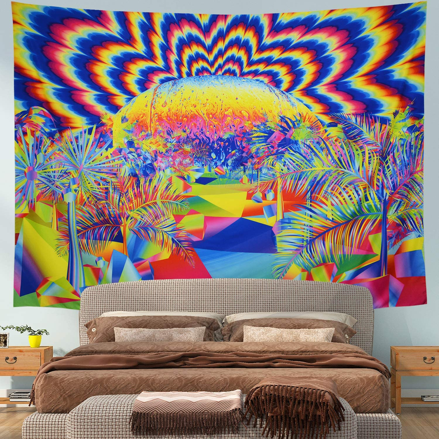 2021new shipping free Prabahdak Psychedelic Tapestry Planet Dedication Coconut Tr Trippy