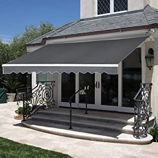 12x10 feet retractable awning