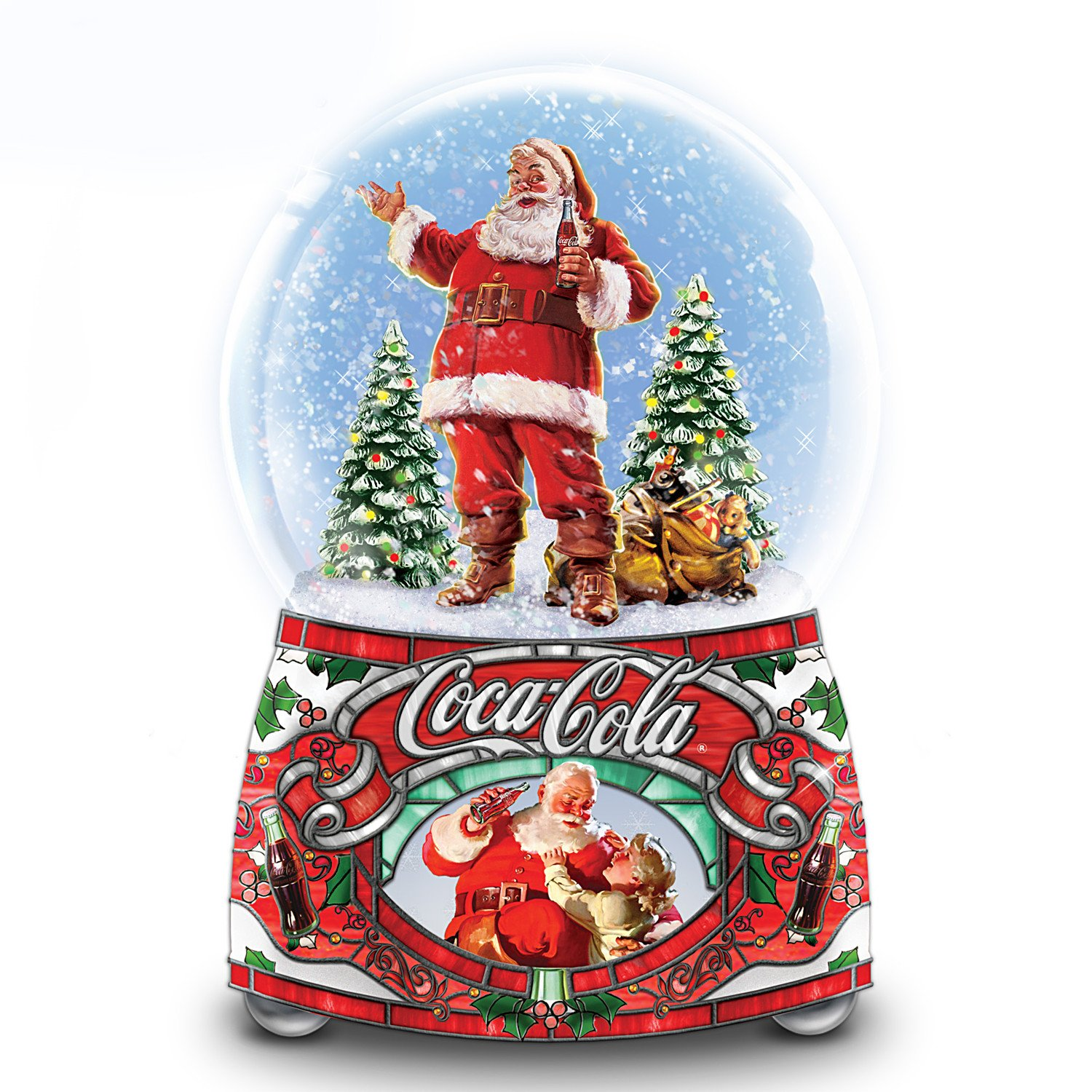 Image of Beautiful Coca-Cola Christmas Santa Snow Globe