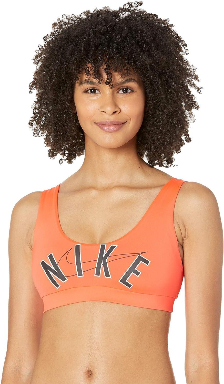 Nike Multi Logo Scoop Neck Bikini Top