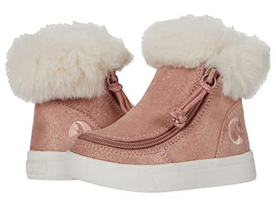 BILLY Footwear Kids Mid Top Luxe (Toddler) (Blush Shimmer) Kid