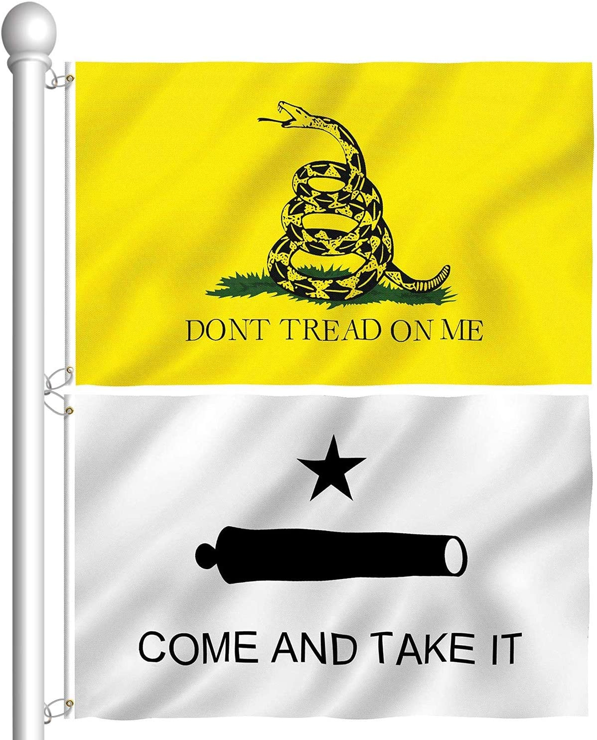 AloParty 2 Pieces Gadsden Don't Tread Discount mail order Flag Max 73% OFF Come 3x5 Foot Me On