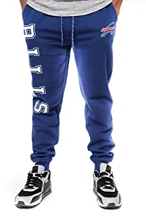Ultra Game NFL Buffalo Bills Mens Jogger Pants Active Basic Fleece Sweatpants, Team Color, Large