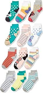 Amazon Brand - Spotted Zebra Kid's 12-Pack Ankle Socks
