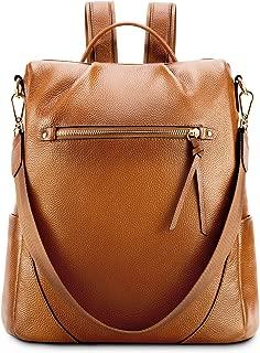 Leather Backpack Purse for Women Anti-theft Rucksack Shoulder Bag