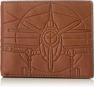 Fossil Men's Axel Leather RFID Blocking Large Coin Pocket Bifold Wallet