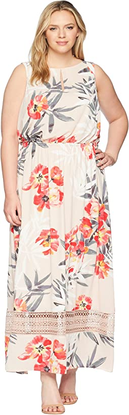 Adrianna Papell Plus Size Tropical Breeze Maxi Dress
