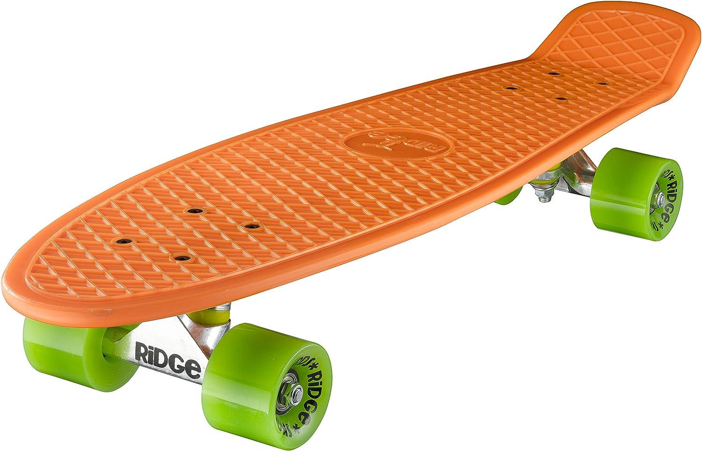 Ridge Skateboard 69 cm 27 Zoll Nickel Cruiser Retro Completo Completamente Montato