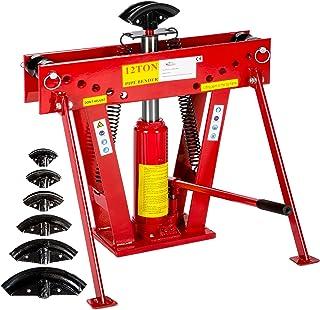 TecTake Máquina curvadora hidráulica para tubos 12 toneladas + 6 matrices differentes 43 kg
