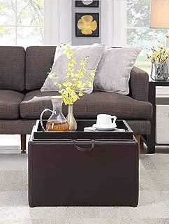 Convenience Concepts Designs4Comfort Accent Storage Ottoman, Espresso,