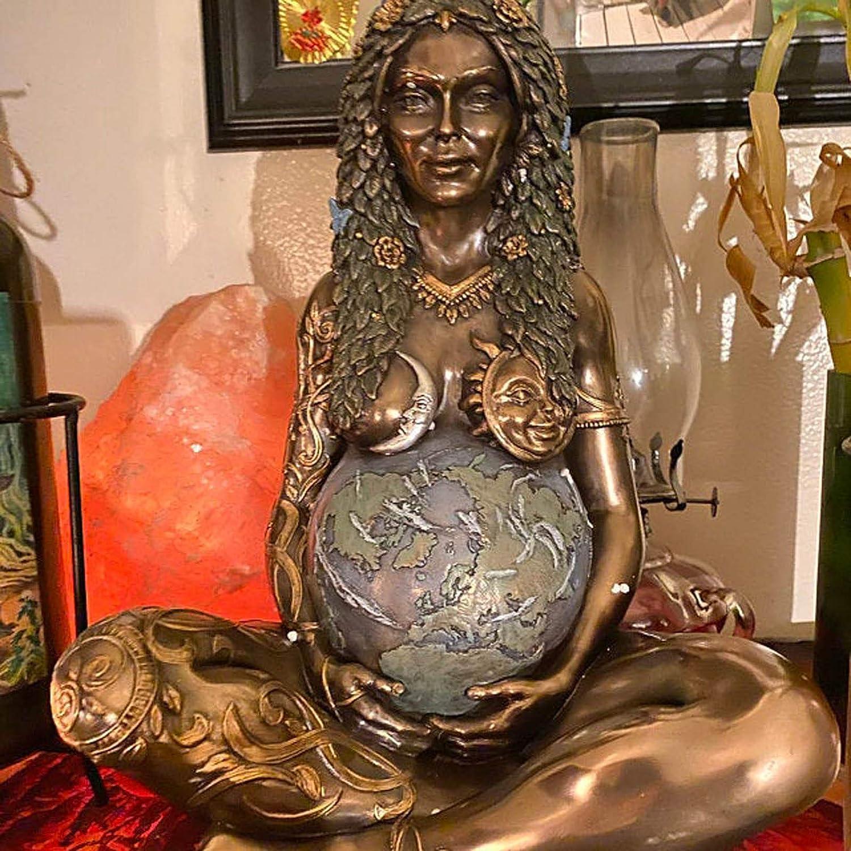 Mother Earth Goddess Statue Art Statue Polyresin Figurine Mother Earth Statue Waterproof Goddess Statue Garden Statues Decor Millennial Gaia Statue Mother Earth Goddess Te Fiti Figurine A-1PC