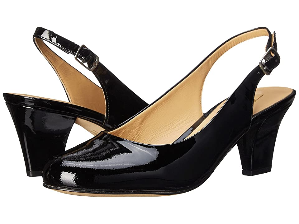 Trotters Pella (Black Patent Leather) Women