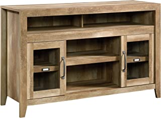 "Sauder Dakota Pass Entertainment/Fireplace Credenza, For TV's up to 60"", Craftsman Oak finish"