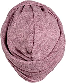 Women Multi Function Soft Cotton Stretch Turban with Head Wrap Long Scarf Tie (Pink)