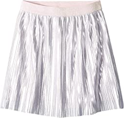 Pleated Metallic Skirt (Big Kids)