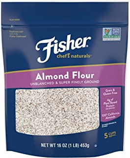 Fisher Chef's Naturals Almond Flour, 16 Ounces, Naturally Gluten Free, No Preservatives, Non-GMO