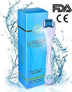 ALPHALUXY Best Microneedle Derma Roller for Acne Scars & Wrinkles Treatment - 4X Faster Results- Professional Titanium Dermaroller Remove Fine Lines, Scars, Dark Circles & Rejuvenate Your Skin