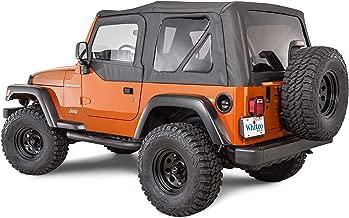 Whitco 35111215 Black Denim with Door Skins Jeep 97-06 TJ Wrangler Soft Top
