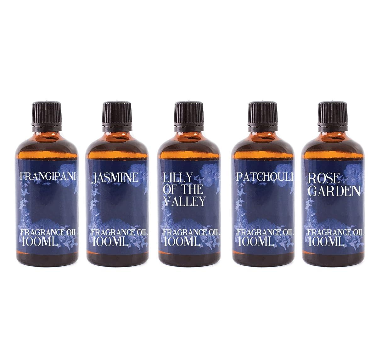 賛美歌考案する見習いMystic Moments   Gift Starter Pack of 5 x 100ml Floral Favourite Fragrant Oil