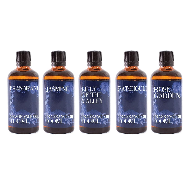 賞ペルメル夕方Mystic Moments | Gift Starter Pack of 5 x 100ml Floral Favourite Fragrant Oil
