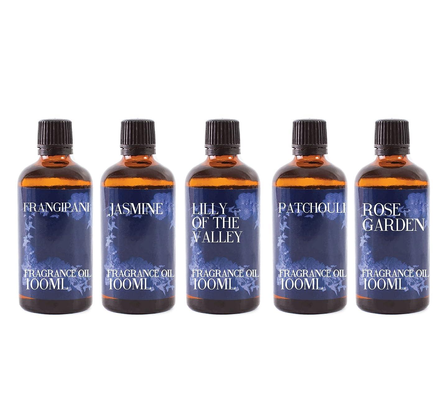 主婦カートンスポーツの試合を担当している人Mystic Moments | Gift Starter Pack of 5 x 100ml Floral Favourite Fragrant Oil