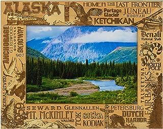 Alaska Montage Laser Engraved Wood Picture Frame (5 x 7)