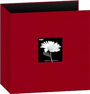 8.5x11 Fabric Frame 3-Ring Binder Scrapbook, Apple Red