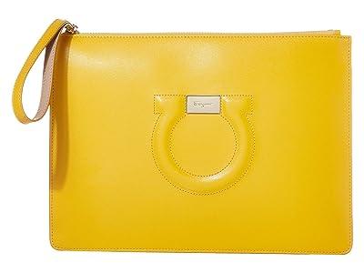 Salvatore Ferragamo City Wristlet (Sunshine) Handbags