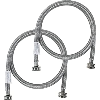 Certified Appliance Accessories Washing Machine Hoses (2 Pack), Hot and Cold Water Supply Lines, 4 Feet, PVC Core with Premium Braided Stainless Steel