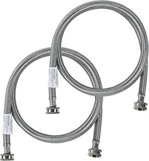 Certified Appliance Accessories Washing Machine Hoses (2 Pack), Hot and Cold Water Supply..