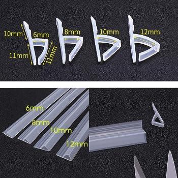 dDanke - Tira de sellado flexible de 100 cm de longitud para mampara de baño o ducha (cristal de 6-12 mm de grosor), 6 cm: Amazon.es: Hogar