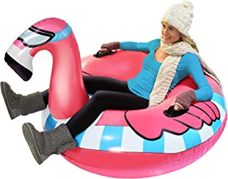 GoFloats Winter Snow Tube – Inflatable Sled for Kids and Adults (Choose from..