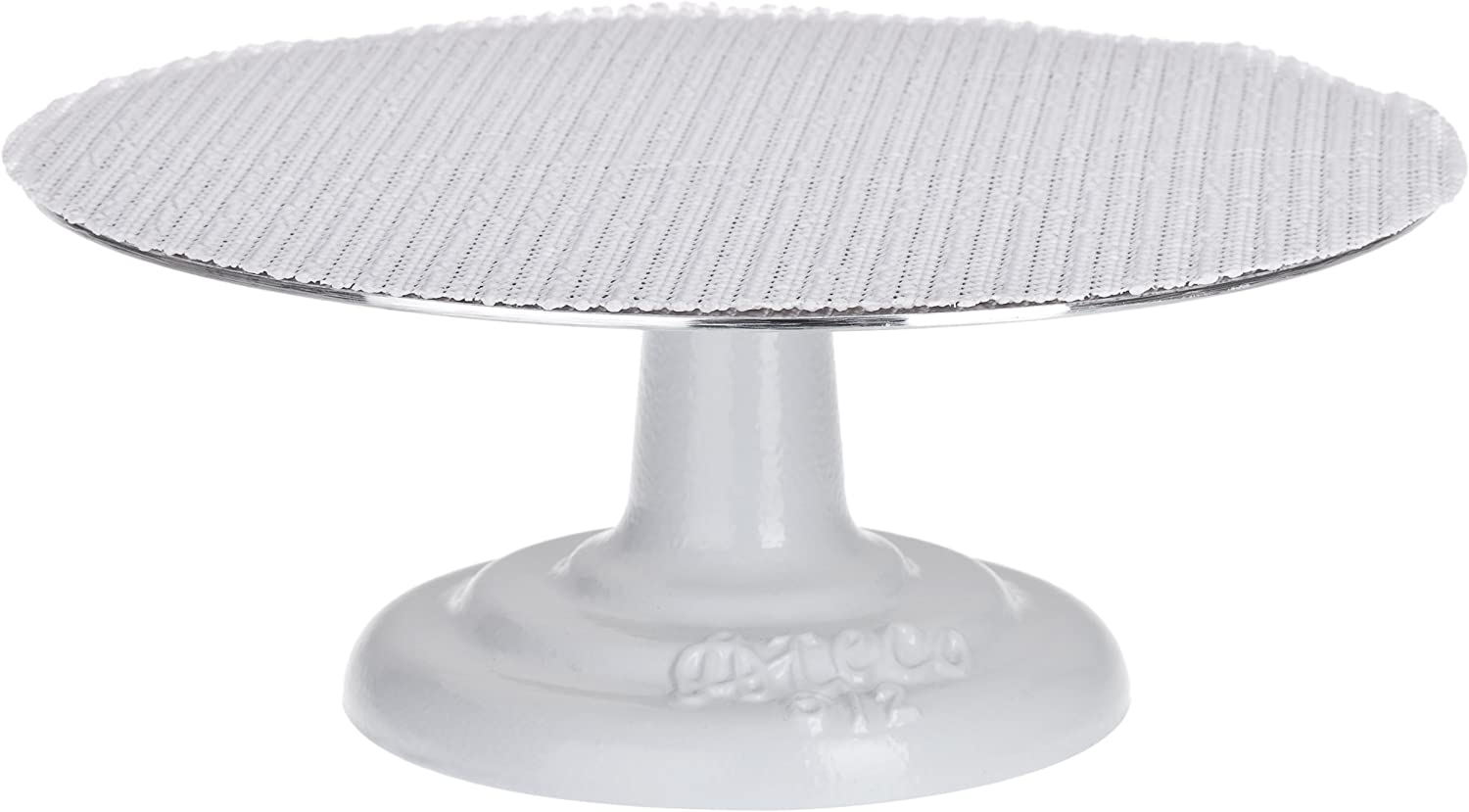 Ateco 612 Revolving Cake Decorating Stand, 12  Round, Cast Iron Base with 1 8  Aluminum Top