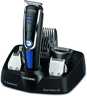 Mondial 305487 - Cortapelos afeitadora, 40 W Negro y azul