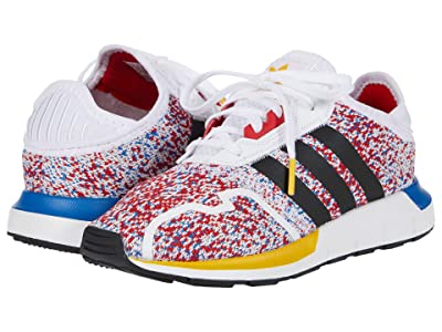 adidas Originals Kids Swift ESS C (Little Kid) (Footwear White/Core Black/Blue) Boys Shoes